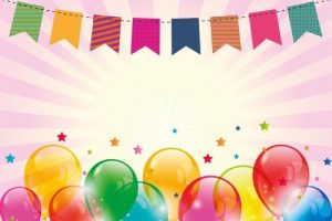 Party Luftballons Girlande Bunt